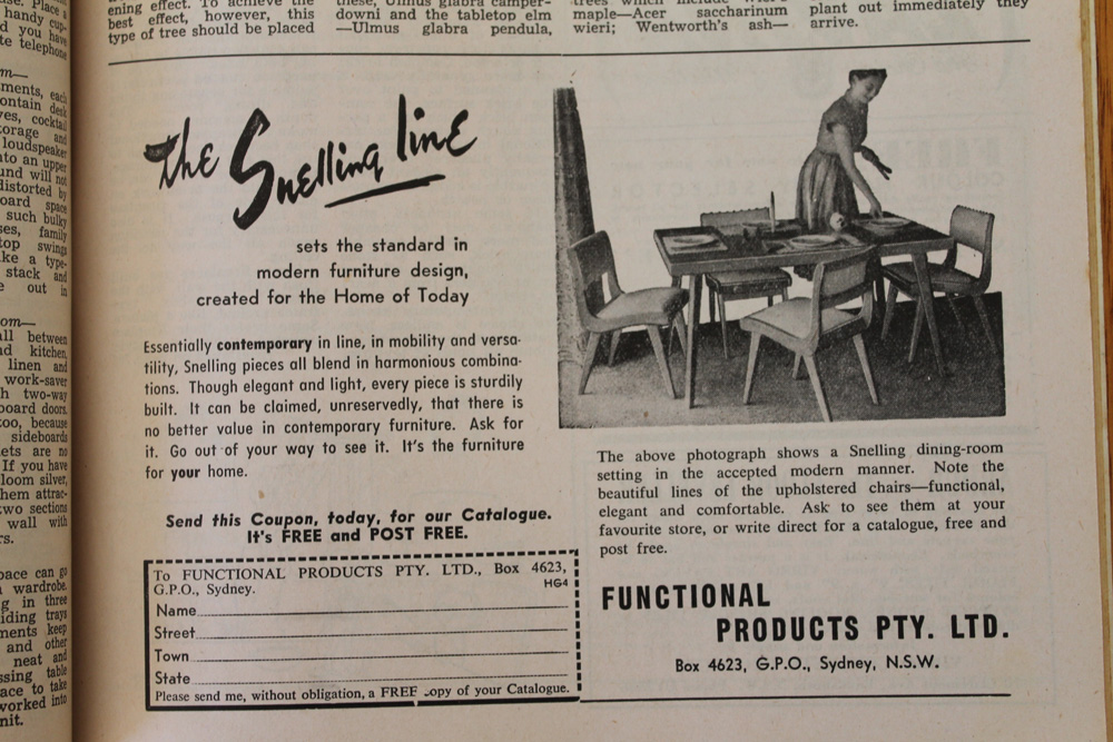 Ad for Snelling Chairs
