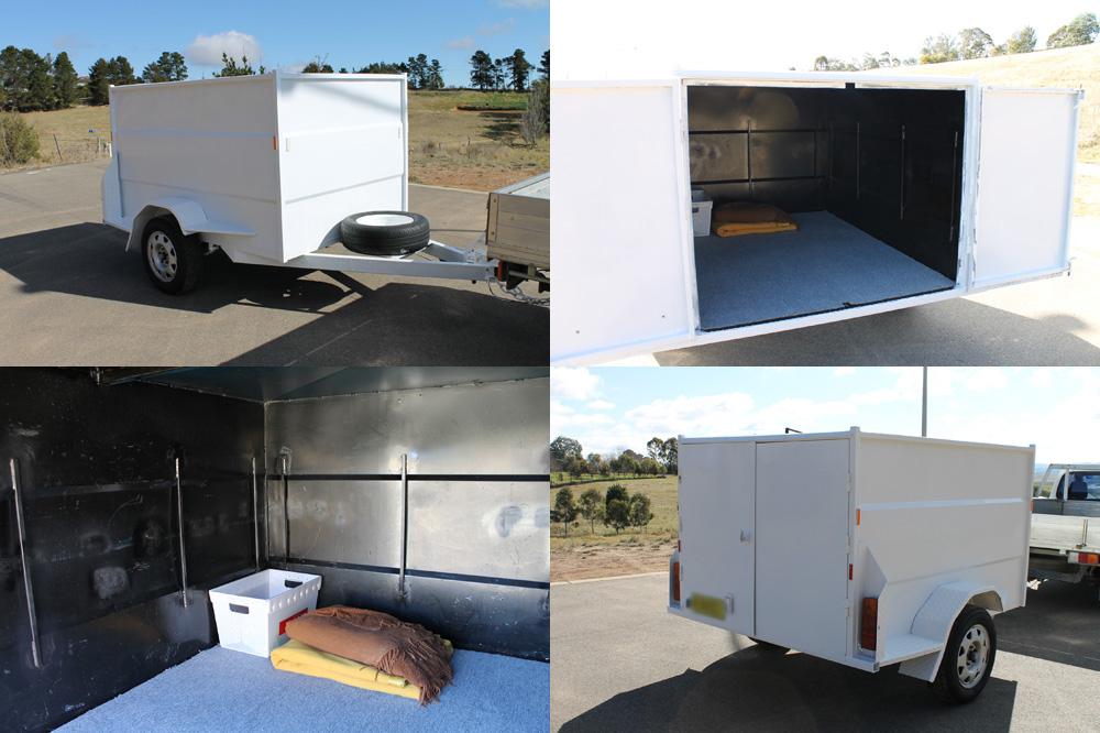 Delivery trailer for purchases from Still Broke Enterprises