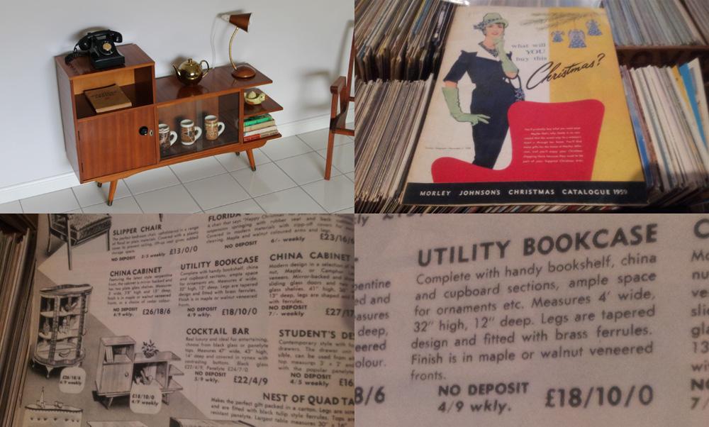 Mid Century Utility  Bookcase