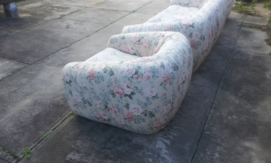 Retro fler lounge chair