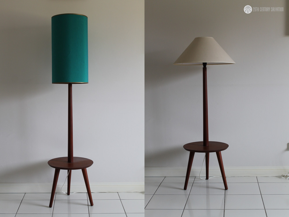 Mid Century Teak Lamp