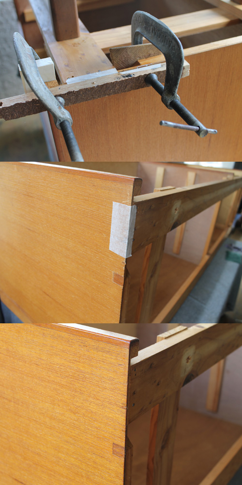 1960's Sideboard Drawers Repair