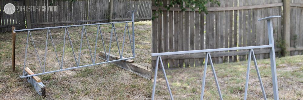 Geometric mid century fencing design